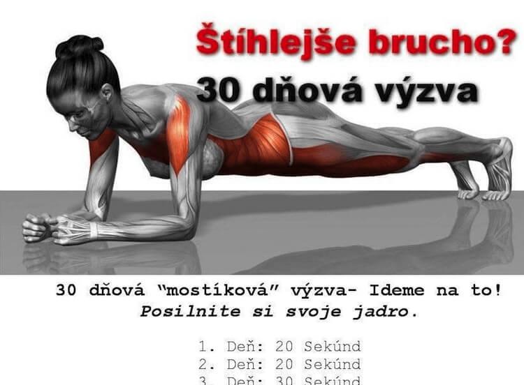 30 dňová Mostíková výzva k štíhlejšiemu bruchu pre každú ženu