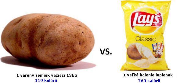 zemiaky a chipsy