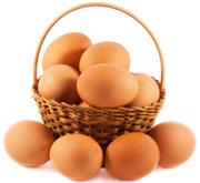 košík s vajciami