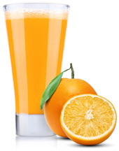 pomaranče s džúsom