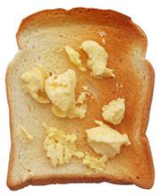 toast s margarínom