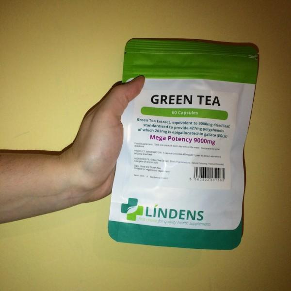 Zelený čaj - predná strana balenia