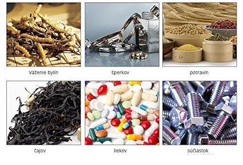 Digitálna miniváha Mikrováha zlatnícka Váha na gramy 0,01-200g Vrecková Vhodná na váženie čaju, bylín, súčiastok, šperkov...