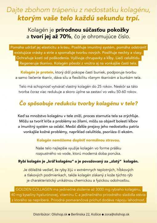 cenník Golden Collagen Zora Ochodnická